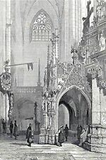 Antique print cathedral Halberstadt Harz 1865 stampa antica Cattedrale Germania