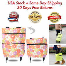 Portable Folding Shopping Cart Utility Trolley On Wheels Grocery Laundry Travel