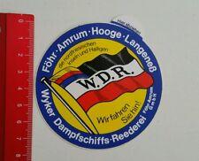 Aufkleber/Sticker: Wyker Dampfschiffs Reederei (240616117)