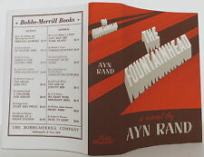 AYN RAND The Fountainhead FIRST EDITION