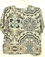H&M Womens Size 14 Multicolor Short Sleeve Career Blouse