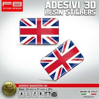 Adesivi Stickers 3D UK UNION JACK BRITISH FLAG AUTO MOTO CASCO GADGET RESINATI