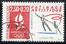 STAMP / TIMBRE FRANCE OBLITERE N° 2737 EUX OLYMPIQUE ALBERVILLE 1992 PATINAGE