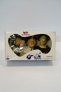 The Three Stooges 1997 Spumco Character Dolls Moe, Larry & Curly In Box