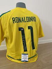 Ronaldinho Signed Shirt Brazil Beckett Coa