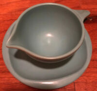 Vintage Boonton Ware 621-C Melamine Melmac Blue Creamer and 1105-6.5 Plate