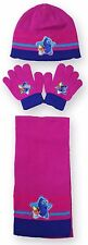Girls Finding Dory Hat Gloves And Scarf 3PC Set One Size  3 to 8 Years 780-516