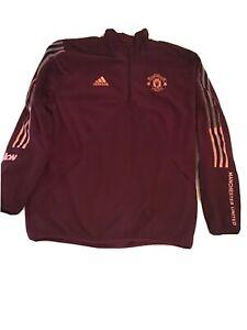 Mens Manchester United Travel Fleece Sweatshirt Size L Used