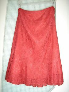 MINUET LACE CORAL SKIRT, SIZE 14