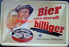 Blechschild 20x30 cm - Spruch: Bier billiger / Brauerei