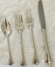 Four-Piece Gorham Newport Scroll Sterling Silver Dinner Place Setting