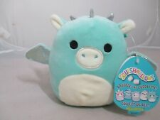 """NEW Squishmallows Kellytoy Drew Dragon 5"""" Plush Doll Sweet with Tags"""