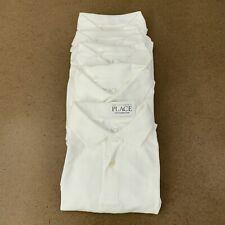 The Children's Place Boys Size Medium(7/8) White Uniform Pique Polo 5-Pack Nwt