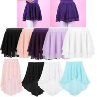 Kids Girls Ballet Tutu Skirt Basic Ballet Dance Skirt Chiffon Mini Pull-On Wrap