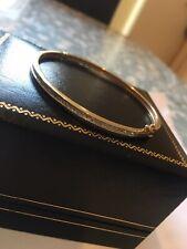 9ct Gold 375 Real Diamond Bracelet Bangle 8.5 Grams Fully Hallmarked