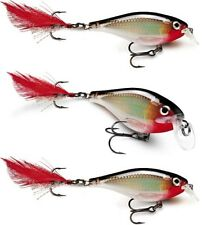 3 Rapala X-Rap Shad Shallow  Suspending - Silver XRSH06 S Bass Pike Lures