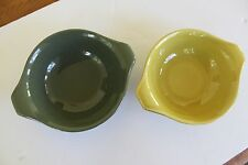 2 Baker Bowls Russel Wright American Modern Serving Large Chartreuse Green NICE!