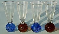 Mini Vase Bubble Base Glass Bud Vase Aperitif Glass Liqueur Glass 50ml