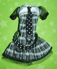 MONSTER HIGH SDCC COMIC CON EVENT VHTF LE BLACK & WHITE FRANKIE STEIN DOLL DRESS