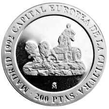 DISCOVERY OF AMERICA SPAIN 5000 PESETAS 1991 6RW 26 JUL SILVER COIN