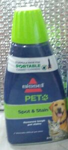 Bissell Pet Spot Stain Odor Formula For Portable Carpet Cleaners 32oz