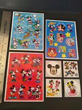 Vintage Stickers Lot Sandylion Hallmark Disney Mickey Minnie Mouse Sticker Mix