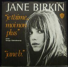 """7"""" JANE BIRKIN - mai t'aime moi non plus / JANE b nm"""
