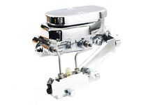 Chevy Chrome Aluminum Smooth Flat Top Master Cylinder w/ Proportioning Valve