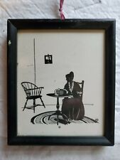 Silhouette of Woman Framed for Hanging