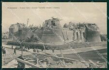 L'Aquila Avezzano Terremoto ABRASA cartolina XB1933