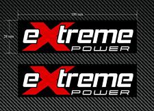 2 X Extreme Power stickers/decals ROUGE & BLANC sur un fond noir-EURO DUB