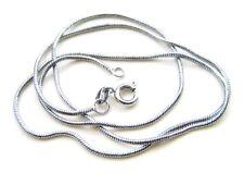 Halskette Schlangenkette Messing 1mm platin 42cm lang SERAJOSY