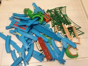 Trackmaster Thomas blue track bundle, including bridges, stations, tunnels etc.