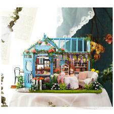 1/24 DIY Wooden 3D Miniature Dollhouse Model Kit Garden Cake Shop Tea House