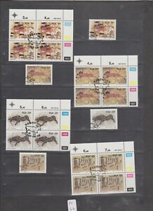 PC 44 _ South Africa. Nice set of Rock Paintings stamps and blocks.