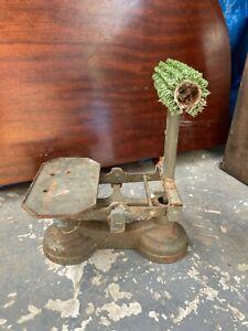 Vintage Antique Very Unusual Cast Iron Scales Door Stop Barn Find