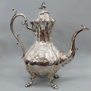 Reed and Barton Winthrop Silverplate Pumpkin 1795C Large Coffee Teapot