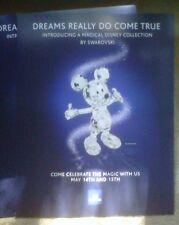 Swarovski Mickey Mouse Collection 2005 'Dreams; Promo Poster Placard Set - Rare