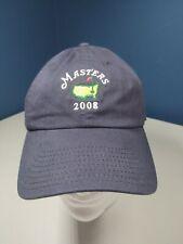 New listing 2008 Masters Augusta National Golf Navy Blue Adjustable Strapback Hat Cap