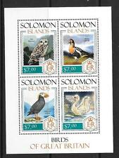 SOLOMON ISLANDS 2013 BIRDS OF GREAT BRITAIN (1) MNH
