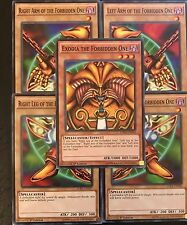 YUGIOH TCG: EXODIA THE FORBIDDEN ONE - 5-CARD SET - 1ST EDITION COMMON - LDK2