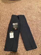 Boys Dark Navy Dickies school uniform dress pants size 5 Nwt adjustable waist