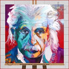 Albert Einstein Abstract Pop Art Framed Box Canvas Print Picture Wall Art PopArt