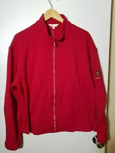 1 NWT MONTEREY CLUB WOMEN'S JACKET, SIZE: 2X-LARGE, COLOR: RED (J127)