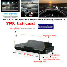 T900 Universal Car SUV LED GPS Speed Water Temperature HUD Head-up Projector Kit