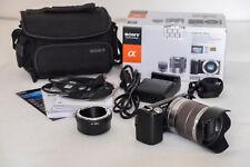 MIRRORLESS SONY NEX-5N + obiettivo 18-55 + anello adattatore Nikon