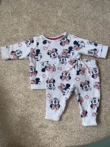 Baby Girl Disney Baby Minnie Mouse Outfit Up To 1 Month