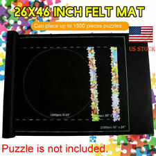 Jigsaw Puzzle Storage Mat Roll Up Puzzle Felt Storage For Up To 1500 Pieces US