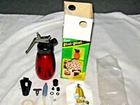 An Original Boxed Hungarian Clover Mixi Mini Red Anodised Whipped Cream Syphon