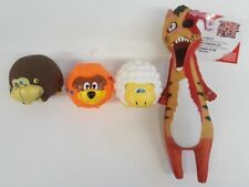 """(Set of 4) Dog Toys Includes 11"""" Zombie Cat &  3"""" Gorilla, Dog and Sheep Balls"""